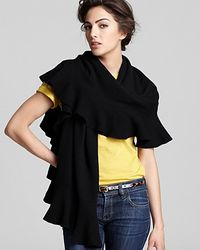 Ash - Black Magaschoni Cashmere Ruffle Scarf - Lyst