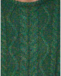 ASOS | Green Asos Cable Jumper in Nepp Yarn for Men | Lyst