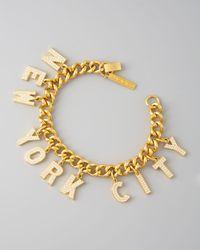 Eddie Borgo | Metallic Pave New York City Charm Bracelet | Lyst
