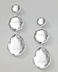 Ippolita - White Clear Quartz Crazyeight Earrings - Lyst