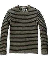 Tommy Hilfiger   Gray Hanson Long Sleeved Striped Tshirt for Men   Lyst