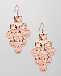 Ippolita - Pink Rose Gold Cascade Earrings - Lyst