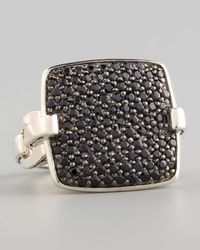 John Hardy - Metallic Pave Black Sapphire Ring - Lyst
