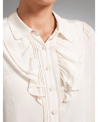 Somerset by Alice Temperley White Somerset By Alice Temperley Silk Frill Blouse Ivory