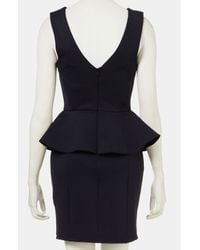 Topshop | Blue Ribbed Peplum Dress | Lyst