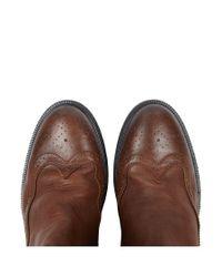 AllSaints Brown Buckley Chelsea Boot for men