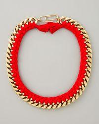 Aurelie Bidermann | Red Braided Chain Necklace | Lyst