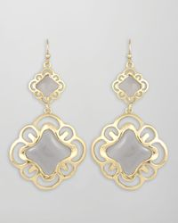 Kendra Scott - Doubledrop Scroll Earrings Blue - Lyst