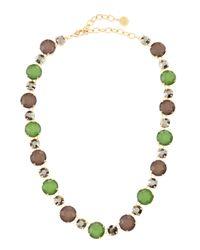 R.j. Graziano - Green Cool Multistone Necklace - Lyst