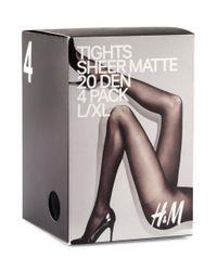H&M Black 4pack 20d Tights