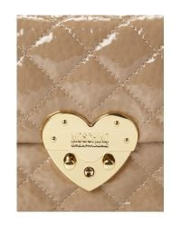 Boutique Moschino | Beige Matelasse Heart Quilted Chain Shoulder | Lyst