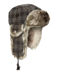 Paul Smith Gray Trapper Hat for men
