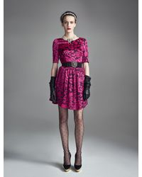 Temperley London   Purple Dianthus Dress   Lyst