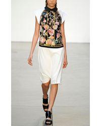 Thakoon | Yellow Birdcage Print Cross Front Halter Dress | Lyst