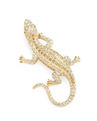 Brooks Brothers - Metallic Austrian Crystal Pave Lizard Brooch - Lyst