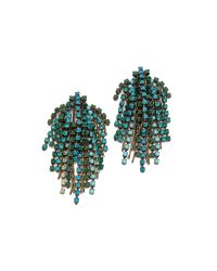 DANNIJO - Green Cecile Earrings - Lyst