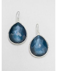 Ippolita - Metallic Indigo Doublet Sterling Silver Teardrop Earrings - Lyst
