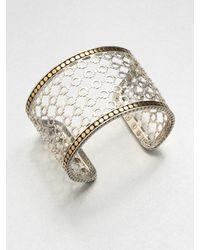 John Hardy | Metallic Sterling Silver 18k Gold Cuff Bracelet | Lyst
