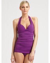 Natori | Purple One-piece Push-up Swimsuit | Lyst