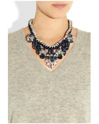 Shourouk - Blue Gilda Crystal Necklace - Lyst