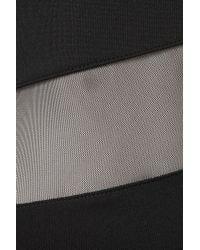 Topshop | Black Zig Zag Mesh Midi Dress | Lyst