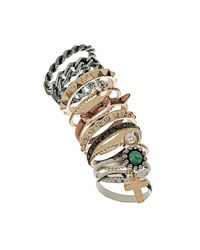 TOPSHOP Metallic Wild Thing Bumper Ring Pack