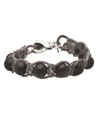 Emanuele Bicocchi   Black Lava Stone Bracelet for Men   Lyst