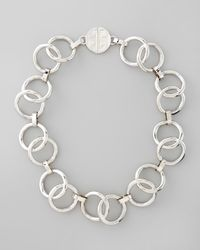 Tory Burch - Metallic Rings Necklace  - Lyst