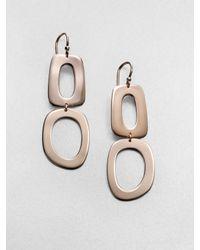 Ippolita - Pink Sterling Silver 18k Gold Double Link Drop Earrings - Lyst