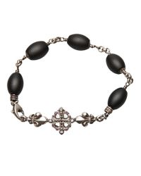 Roman Paul | Black Fleur De Lis Bracelet for Men | Lyst