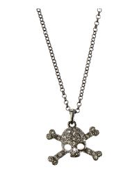 Vivienne Westwood | Black Diamante Skull Necklace for Men | Lyst