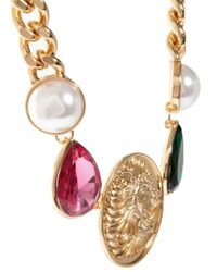 ASOS | Multicolor Jewel Coin Necklace | Lyst