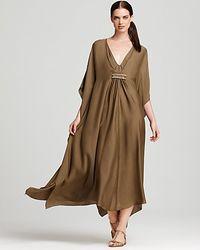 ESCADA | Brown Beaded Silk Caftan | Lyst