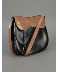 Gucci | Brown Leather Saddle Bag | Lyst