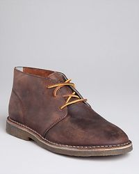 seavees walnut oiled leather casual chukka boots in brown