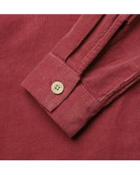 YMC Red Corduroy Shirt for men