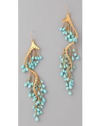 Alexis Bittar Blue Gold Turquoise River Earrings