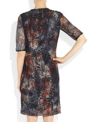Mulberry | Multicolor Leather Trimmed Tie Dye Lace Dress | Lyst