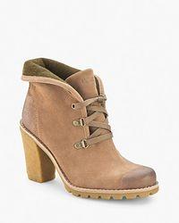 UGG - Brown Booties Calynda High Heel - Lyst