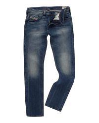 DIESEL | Blue Larkee Relaxed Comfort Straight Jeans for Men | Lyst