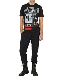 Givenchy | Black American House Jersey Slim Fit T-Shirt for Men | Lyst