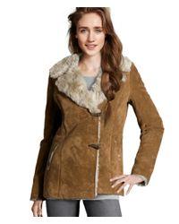 H&M Natural Suede Jacket