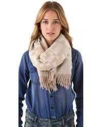 Pendleton - Natural Fringed Scarf - Lyst