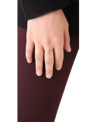 Elizabeth and James - Metallic Snake Wrapping Ring with White Sapphire Ruby - Lyst