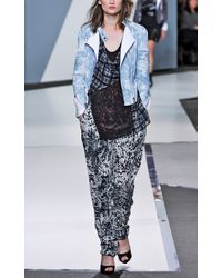 3.1 Phillip Lim | Floral Relief Printed Corded Motorcycle Jacket | Lyst