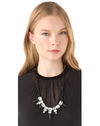Noir Jewelry - Black Nightfall Crystal Bib Necklace - Lyst