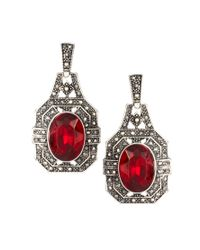 River Island | Vintage Red Stone Drop Earrings | Lyst