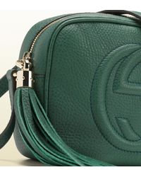Gucci Soho Dark Green Disco Bag