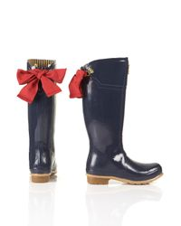 Joules Blue Joules Evedon Ribbon Wellies