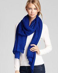 Lauren by Ralph Lauren | Blue Mohair Thermal Scarf | Lyst